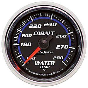Auto Meter Cobalt Gauge : Water Temp 140-280 deg. F