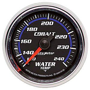 Auto Meter Cobalt Gauge : Water Temp 120-240 deg. F