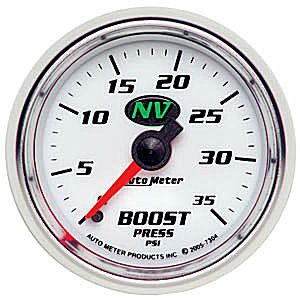 Auto Meter NV Gauge : Boost 0-35 PSI