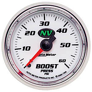 Auto Meter NV Gauge : Boost 0-60 PSI