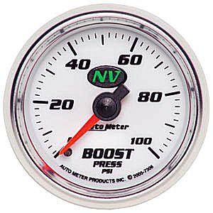 Auto Meter NV Gauge : Boost 0-100 PSI