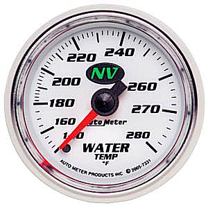 Auto Meter NV Gauge : Water Temp 140-280 deg. F