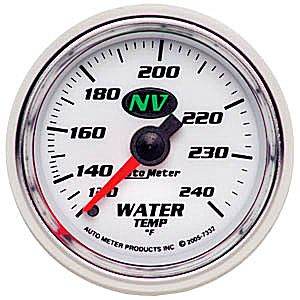 Auto Meter NV Gauge : Water Temp 120-240 deg. F