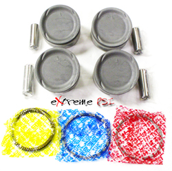 Topline Pistons w/Rings Set 8.0:1: Mitsubishi Eclipse 6-Bolt