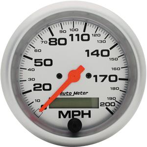 Auto Meter Ultra-Lite Gauge : Speedometer 0-200 MPH