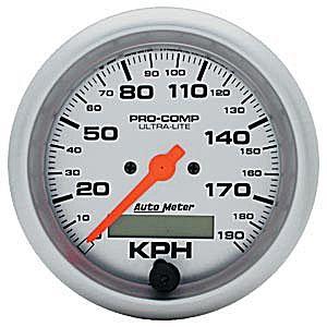 Auto Meter Ultra-Lite Gauge : Speedometer 0-190 KPH