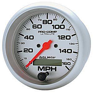 Auto Meter Ultra-Lite Gauge : Speedometer 0-160 MPH