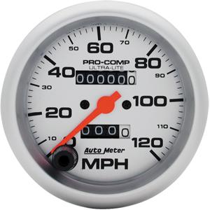 Auto Meter Ultra-Lite Gauge : Speedometer 120 MPH
