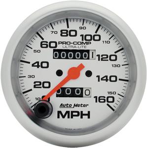 Auto Meter Ultra-Lite Gauge : Speedometer 160 MPH