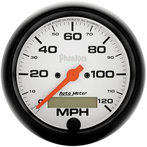 Auto Meter Phantom Gauge : Speedometer 0-120 MPH