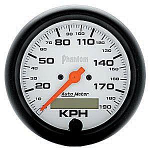 Auto Meter Phantom Gauge : Speedometer 0-190 KPH