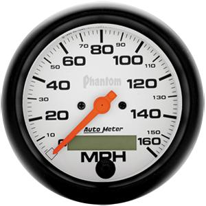 Auto Meter Phantom Gauge : Speedometer 0-160 MPH