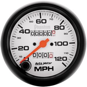Auto Meter Phantom Gauge : Speedometer 120 MPH