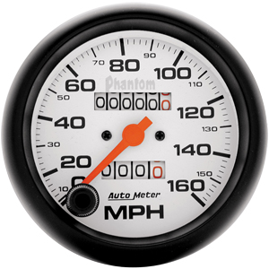 Auto Meter Phantom Gauge : Speedometer 160 MPH