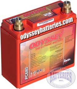 Odyssey Superlight Weight Battery: Metal Jacket 15.4 lbs (w/ terminal)