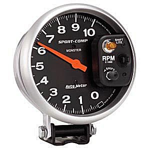 Auto Meter Sport-Comp Gauge : Tachometer w. Shift-Lite on Control Shield 10000 RPM