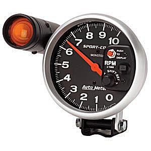 Auto Meter Sport-Comp Gauge : Tachometer w. Shift-Lite 10000 RPM