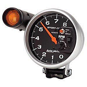 Auto Meter Sport-Comp Gauge : Tachometer w. Shift-Lite 8000 RPM