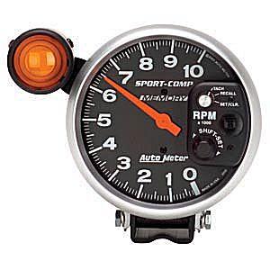 Auto Meter Sport-Comp Gauge : Tachometer w. Shift-Lite Memory 10000 RPM