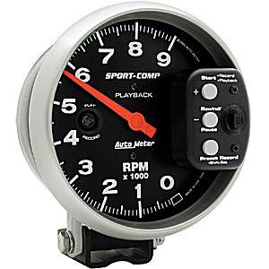 Auto Meter Sport-Comp Gauge : Tachometer Playback 9000 RPM