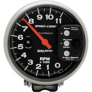 Auto Meter Sport-Comp Gauge : Tachometer Playback 11000 RPM