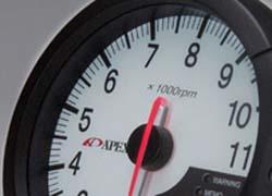 Apexi 120mm DECS EL Tachometer System: White