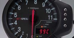 Apexi 120mm DECS EL Tachometer System: Black