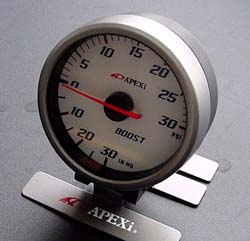 Apexi EL2 System Meter: 60mm Mechanical PSI Boost Gauge White