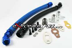 -10AN Oil Return Line Kit (Socketless Hose Fitting): Mitsubishi Eclipse 90-99