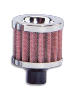 Vibrant Crankcase Breather Filter: 12mm Inlet I.D.