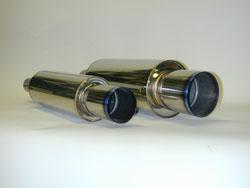 HKS Universal Stainless Hi-Power Ti Muffler: 60mm  Inlet