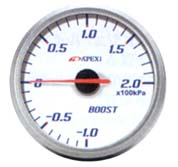 Apexi EL2 System Meter: 60mm Mechanical KPA Boost Gauge White
