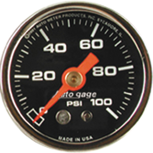 "Auto Meter Autogage Gauge : Fuel Pressure 0-100 PSI (1/8"" NPT Mount)"