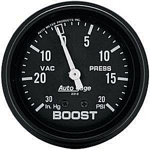 Auto Meter Autogage Gauge : Boost/Vacuum 30 In. Hg.-Vacuum/20 PSI