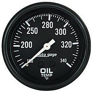 Auto Meter Autogage Gauge : Oil Temp 100-340 deg. F