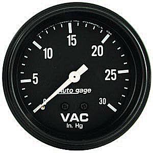 Auto Meter Autogage Gauge : Vacuum 30 In. Hg.
