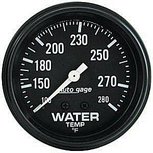Auto Meter Autogage Gauge : Water Temp 100-280 deg. F