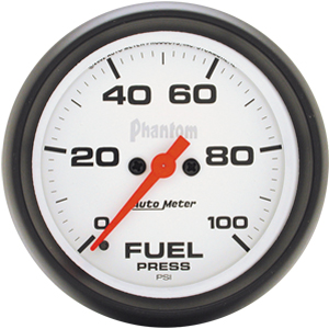 Auto Meter Phantom Gauge : Fuel Pressure 0-100 PSI