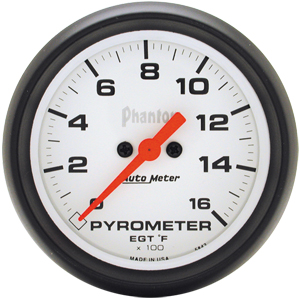 Auto Meter Phantom Gauge : Pyrometer 0-1600 deg. F