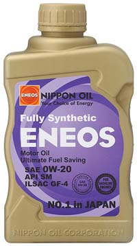 ENEOS Fully Synthetic Motor Oil: 0W20