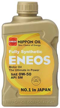 ENEOS Fully Synthetic Motor Oil: 0W50