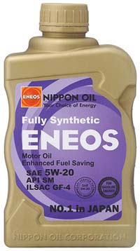 ENEOS Fully Synthetic Motor Oil: 5W20