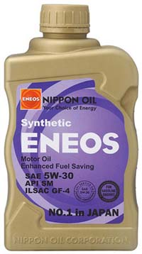 ENEOS Fully Synthetic Motor Oil: 5W30