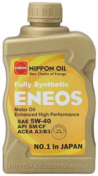 ENEOS Fully Synthetic Motor Oil: 5W40