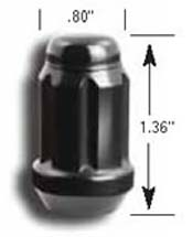 "Gorilla ""Small Diameter"" Tuner Lug Nut Kit: Black (20-pack)"