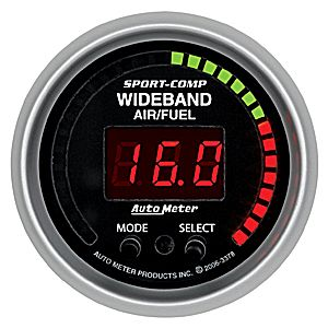 Auto Meter Sport Comp Gauge: Wideband Air/Fuel Ratio