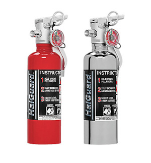 H3R Performance HalGuard Premium Clean Agent Fire Protection:  1.4 lb Compact Hand Held Fire Extinguisher