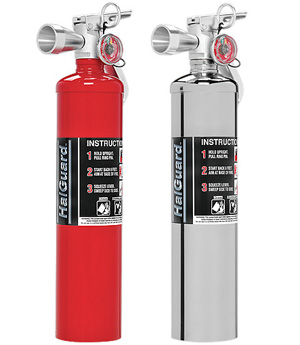 H3R Performance HalGuard Premium Clean Agent Fire Protection:  2.5 lb Compact Hand Held Fire Extinguisher