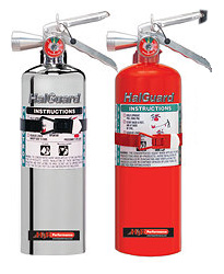 H3R Performance HalGuard Premium Clean Agent Fire Protection:  5 lb Large Hand Held Fire Extinguisher