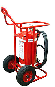 H3R Performance HalGuard Premium Clean Agent Fire Protection:  65 lb Wheeled Fire Extinguisher